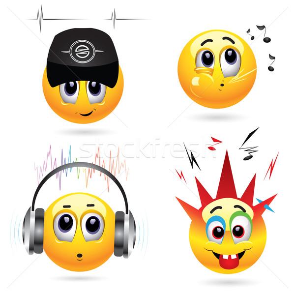 Muziek glimlachend glimlach kinderen Stockfoto © dejanj01