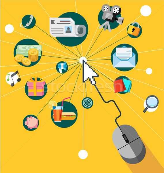 Ontwerp web mobiele telefoon diensten social media Stockfoto © dejanj01