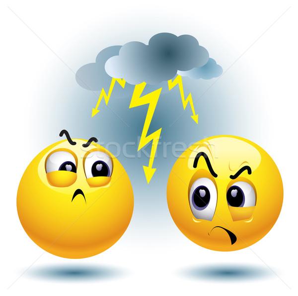 Bal haat ander stress cartoon Stockfoto © dejanj01