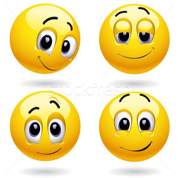 スマイリー ポーズ 笑顔 ウェブ 楽しい ストックフォト © dejanj01