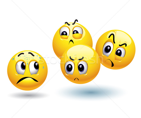 Stockfoto: Smileys · ander · bal · stress