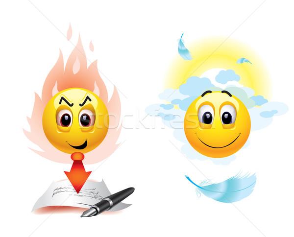 Smileys goede kwaad hemel Stockfoto © dejanj01