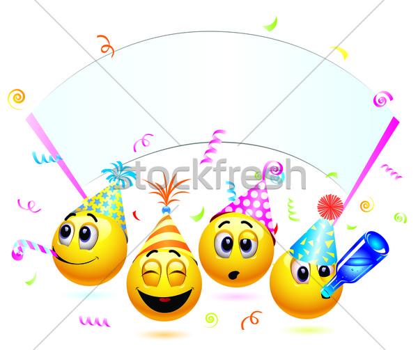 Smileys partij dans gelukkig Stockfoto © dejanj01