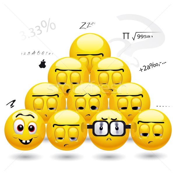 élèves s'ennuie somnolent école étudiant Photo stock © dejanj01