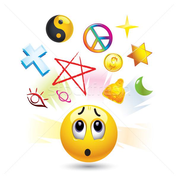 スマイリー スマイリー ボール シンボル 宗教 ウェブ ストックフォト © dejanj01
