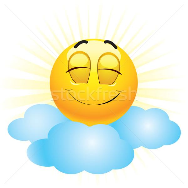 スマイリー 笑みを浮かべて ボール 空 笑顔 子供 ストックフォト © dejanj01