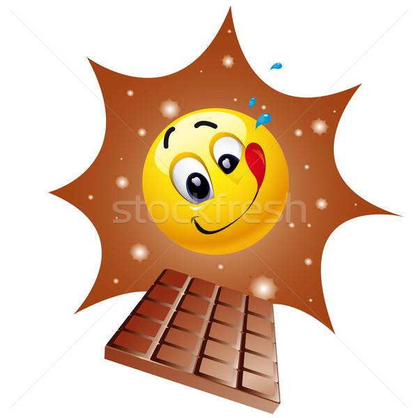 Suratlar top tat tatlı çikolata Stok fotoğraf © dejanj01