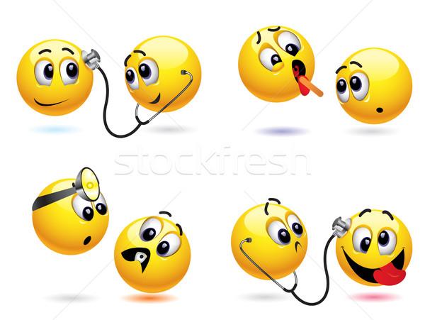 Smileys bal ander arts gezondheid Stockfoto © dejanj01