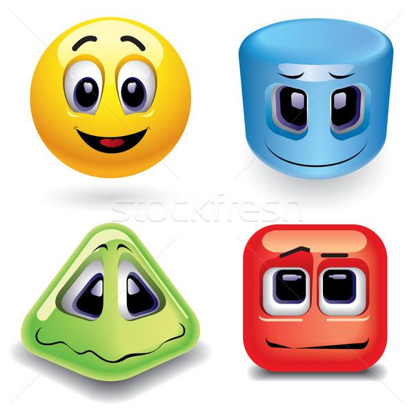 Glimlachend verschillend meetkundig Stockfoto © dejanj01