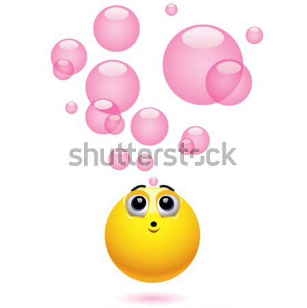 Glimlachend bal kauwen bubble Stockfoto © dejanj01