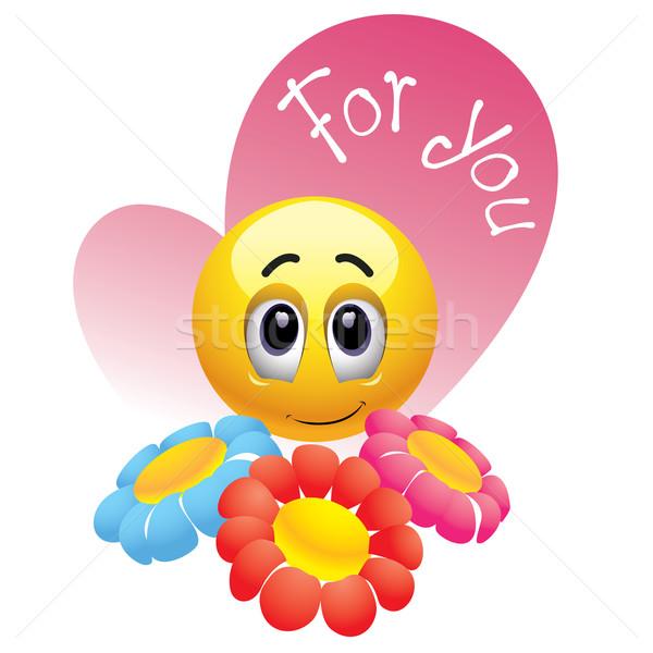 Glimlachend bal bloemen baby bruiloft Stockfoto © dejanj01