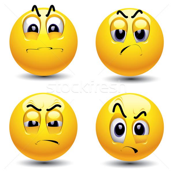 Glimlachend verschillend gezicht web Stockfoto © dejanj01