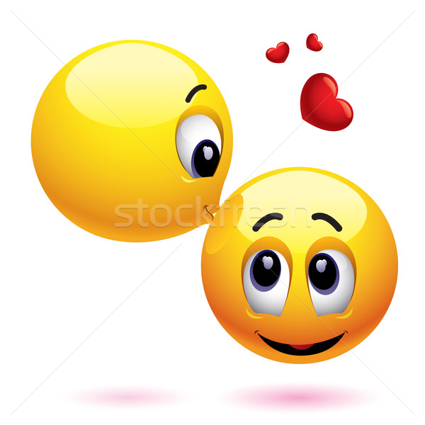 Glimlachend liefde hart kind Stockfoto © dejanj01