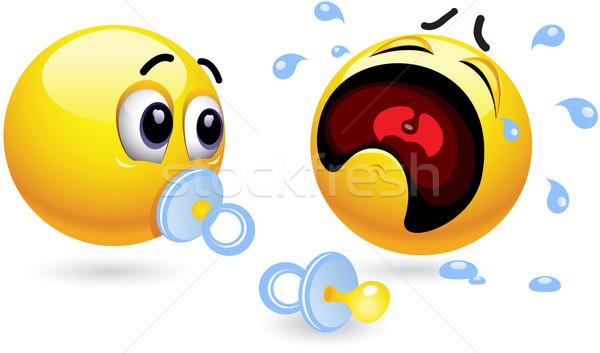 Smileys twee baby baby gezicht Stockfoto © dejanj01