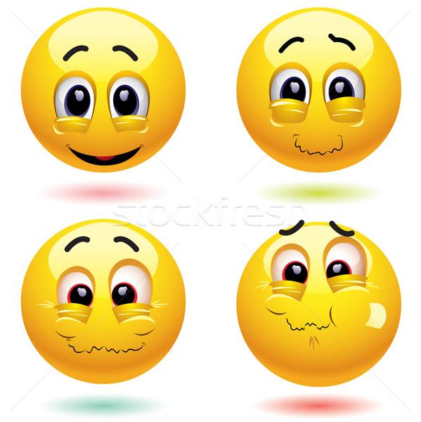 Uśmiechnięty twarz szczęśliwy oczy Zdjęcia stock © dejanj01