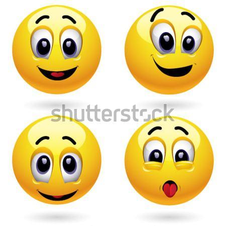 Smileys ouder baby gezicht kind veiligheid Stockfoto © dejanj01