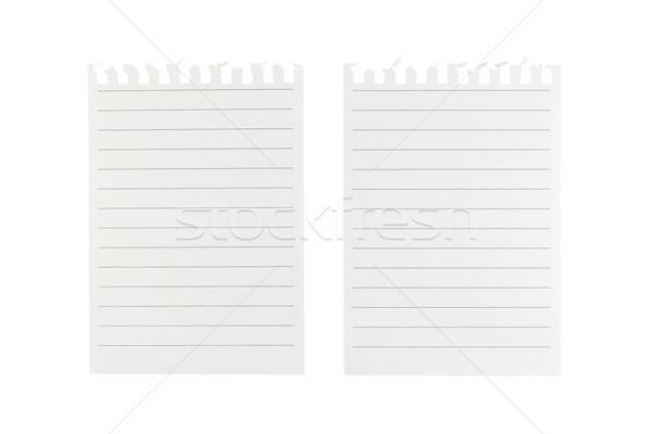Note paper on white background Stock photo © dekzer007