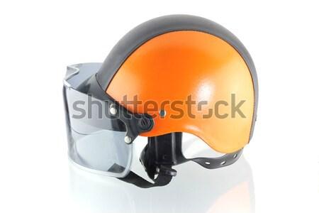 Orange noir moto casque vélo vitesse Photo stock © dekzer007
