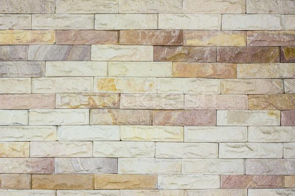 Modern tuğla duvar inşaat taş tuğla duvar kağıdı Stok fotoğraf © dekzer007