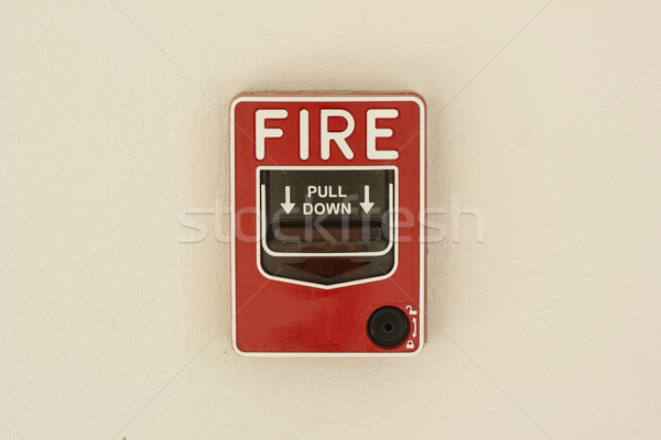 fire alarm control panel on wall Stock photo © dekzer007