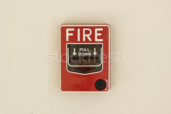 火災警報 コントロールパネル 壁 家 ホーム ガラス ストックフォト © dekzer007