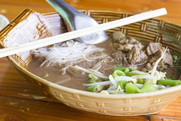 тайский продовольствие красный мяса китайский Сток-фото © dekzer007