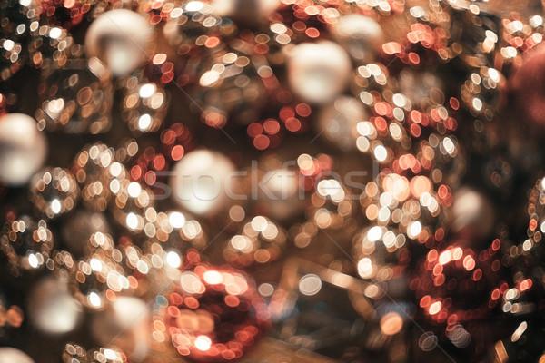 Bokeh Natale abstract colorato capodanno luci Foto d'archivio © denbelitsky