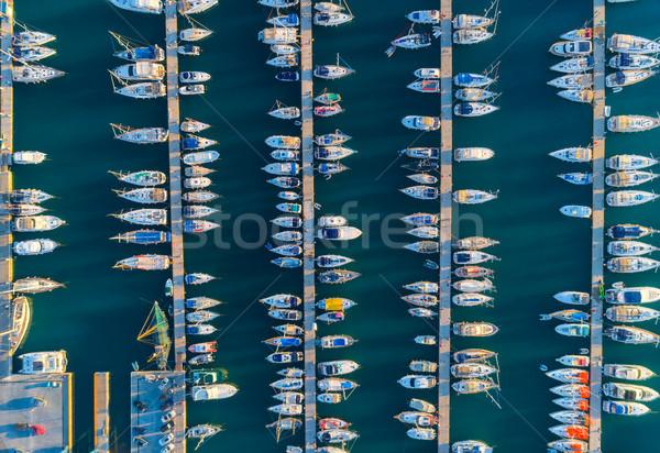 Surpreendente barcos pôr do sol Turquia Foto stock © denbelitsky