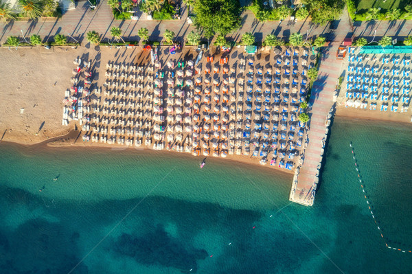 Aerial view of transparent turquoise sea Stock photo © denbelitsky