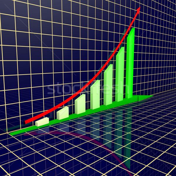 Arrowed business chart Stock photo © dengess