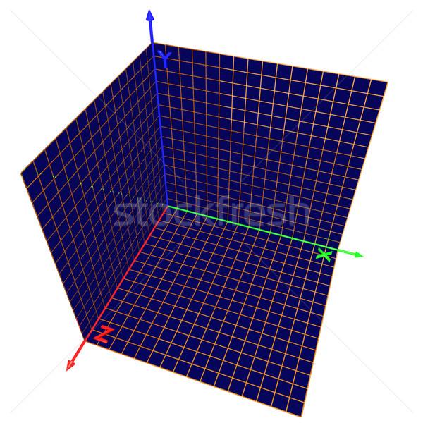 Axes of the coordinates Stock photo © dengess