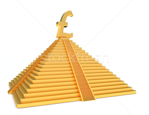 gold pound sterlings Stock photo © dengess