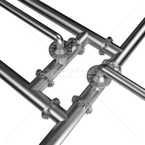 Metal tuberías aislado blanco negocios fondo Foto stock © dengess