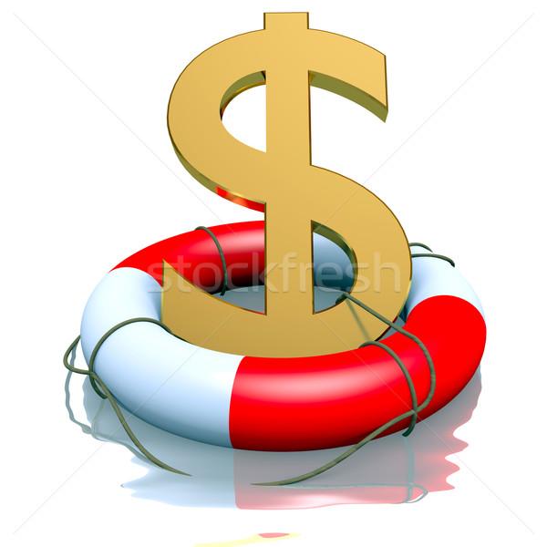 Dollar symbol in buoy Stock photo © dengess
