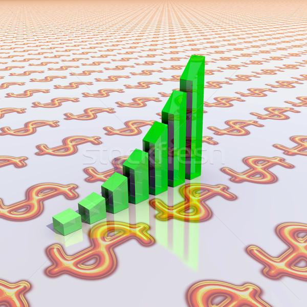 Business grafiek abstract illustratie ontwerp bar Stockfoto © dengess