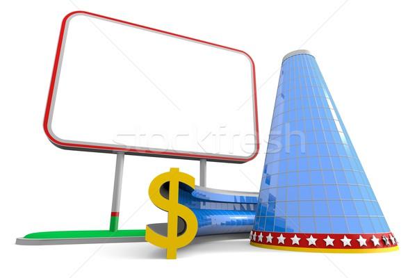 Building billboard dollar Stock photo © dengess