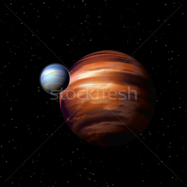 Planets in deep space Stock photo © dengess