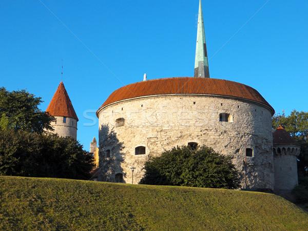 Vecchio Tallinn Estonia città vecchia architettura costruzione Foto d'archivio © dengess