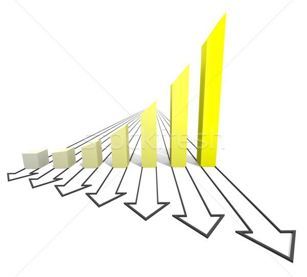 Arrowed business chart yellow Stock photo © dengess