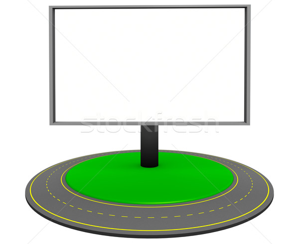 Billboard and roundabout route Stock photo © dengess
