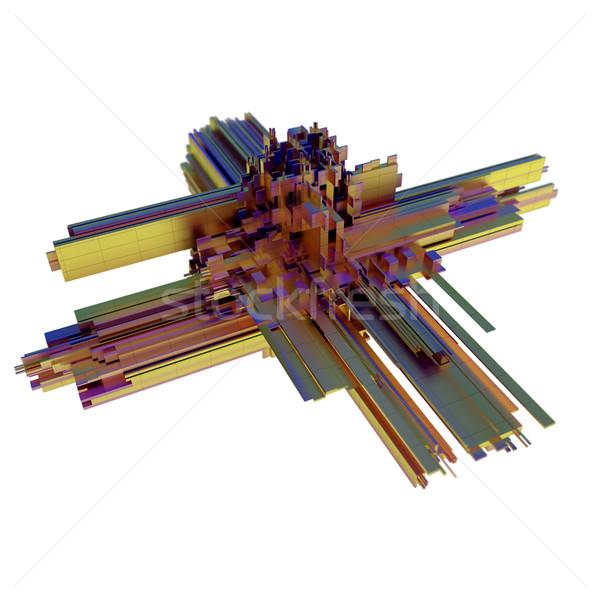 abstract metal geometric shape Stock photo © dengess