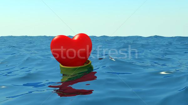 Heart in wedding ring Stock photo © dengess