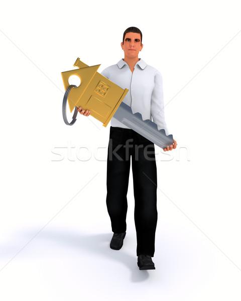 Businessman with key Stock photo © dengess