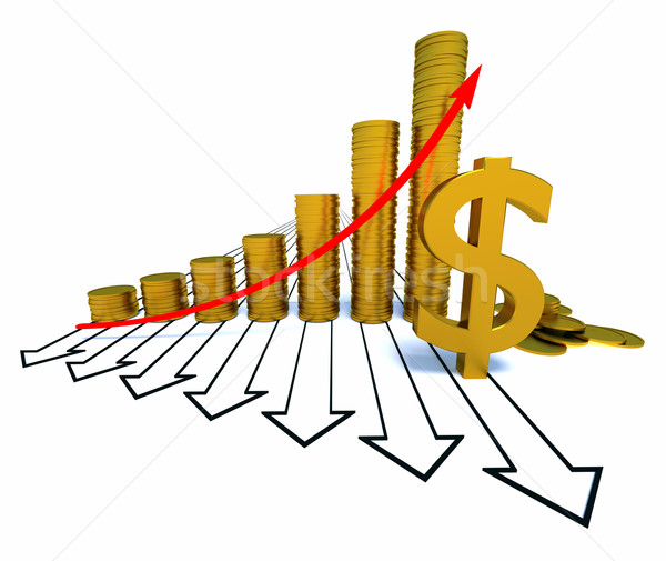 Arrowed chart and dollar Stock photo © dengess