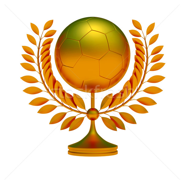Gold soccer ball Stock photo © dengess