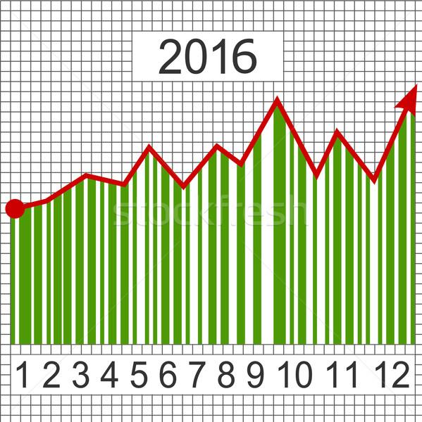 Verde negocios tabla año 2016 éxito Foto stock © dengess