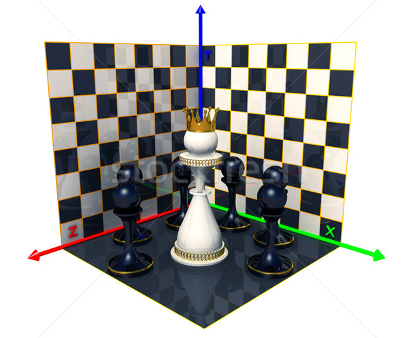 Axes of the coordinates, chess queen Stock photo © dengess