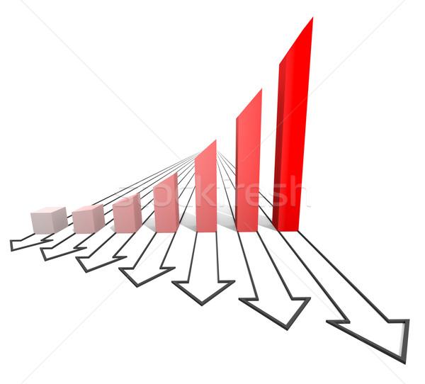 Negocios tabla rojo aislado blanco papel Foto stock © dengess