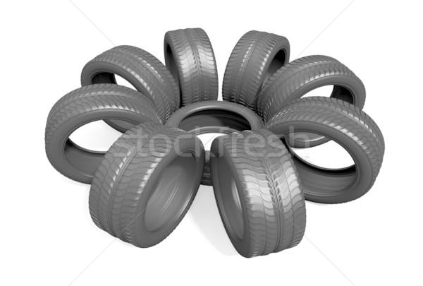 car wheels background Stock photo © dengess