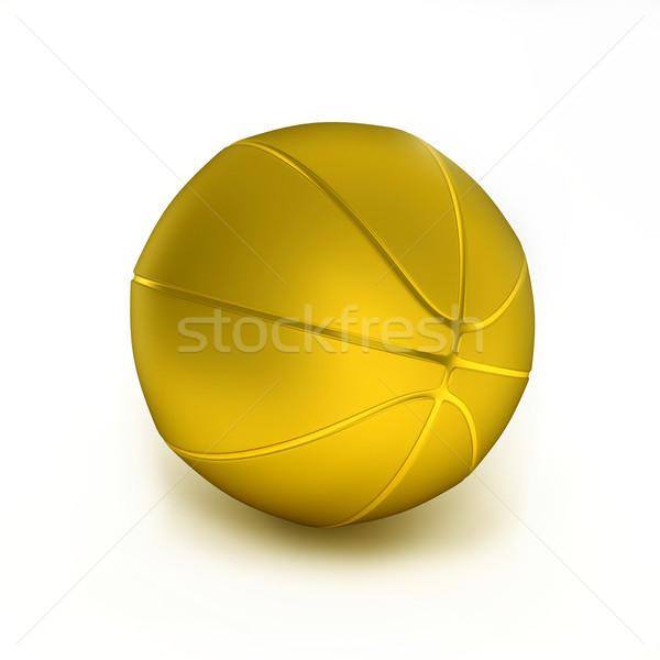 Baloncesto oro objeto blanco deporte signo Foto stock © dengess